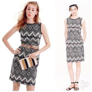 J. CREW Diamond Ikat Dress